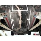 Hyundai Coupe 96-99 UltraRacing 2x 3-Point Floor Bars 1584